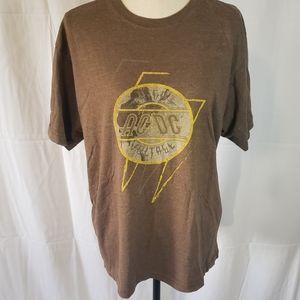 ACDC Vintage Brown Tshirt